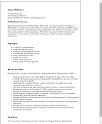 Examples Of Professional Summary For Resume by Professional Administrative Officer Templates To Showcase Your