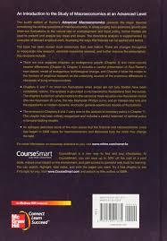 advanced macroeconomics mcgraw hill series economics amazon de