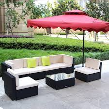 Best Wicker Patio Furniture Umax 7 12pc Outdoor Rattan Wicker Sofa Set