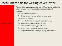 Cover Letter Samples Nursing Assistant   Resume Maker  Create     Brefash
