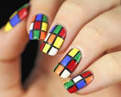 copycat claws 31dc2014 day 16 rubik u0027s cube nail art