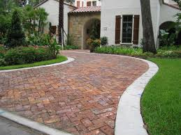 Brick Paver Patterns For Patios by Decor U0026 Tips Front Yard With Driveway Pavers And Paver Bricks
