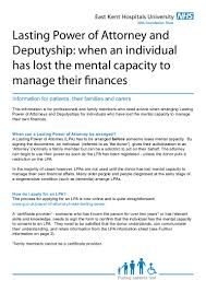 Power Of Attorney Property And Financial Affairs by Lpa And Deputyship Info Sheet 2015