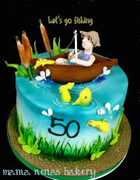 Chocolate Accents by Fishing Theme Cake Fishing Theme Cake Chocolate Boat Gum Paste