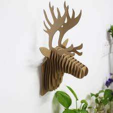 Home Made Decoration by Western Style Home Made Decoration Cardboard Deer Head Wall