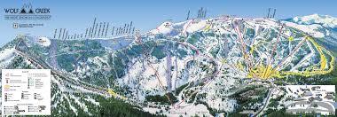 Southwest Colorado Map by Wolf Creek Ski Area Trail Map