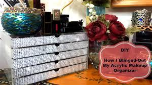 Youtube Home Decor by How To Make A Makeup Organizer Diy Bling Acrylic Makeup Organizer