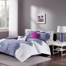 Bed Comforter Sets For Teenage Girls by Floral Medallion Purple White Teen Bedroom Comforter Set Full