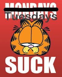 I hate Tuesdays Garfield image