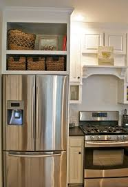best 25 small refrigerator ideas on pinterest storage spaces different idea baskets in space above the fridge