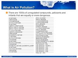 Air Pollution  Asthma  Triggers  amp  Health   Research and Remediation S    SlideShare     Pollutants     What is Air Pollution