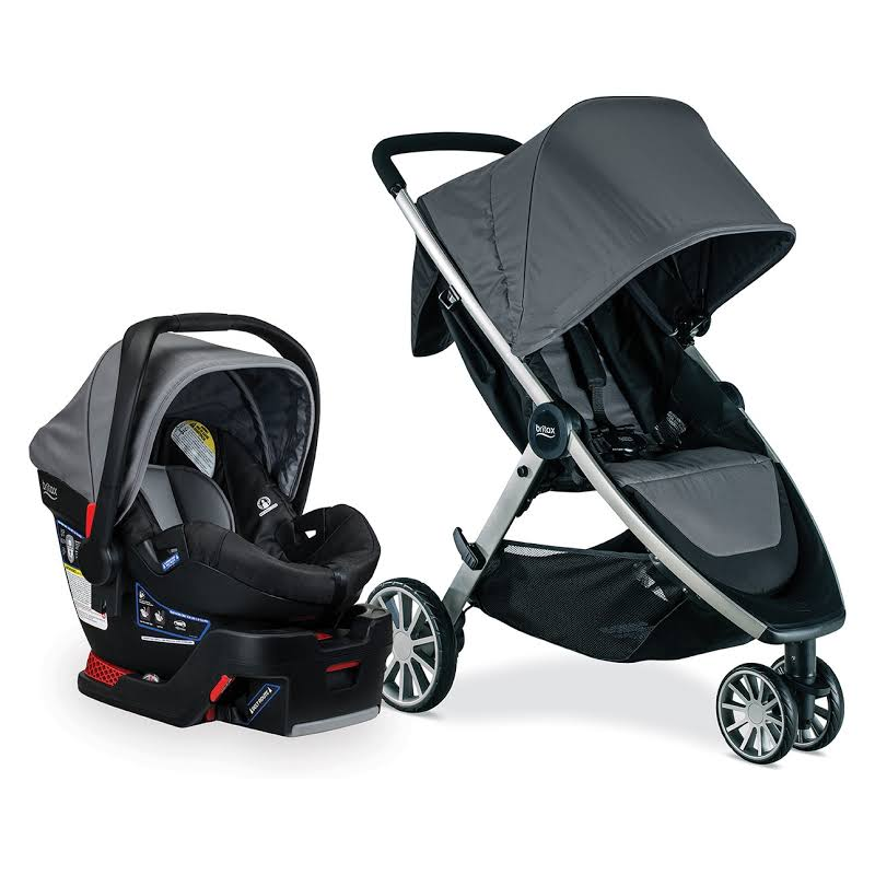 Britax S05587900 B-lively And B-safe Stroller And Car Seat Travel System, Dove