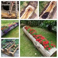 best 25 log planter ideas on pinterest diy yard decor yard