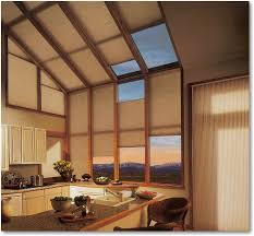 hunter douglas duette honeycomb shades in specialty angled shades