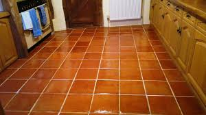Flooring For Kitchen by Terra Cotta Tile Flooring On Porcelain Floor Tile Peel And Stick