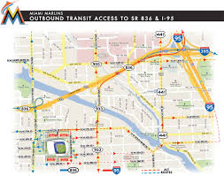 Miami Zip Codes Map by Driving Directions To Marlins Park Marlins Com Ballpark