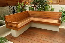 depiction of outdoor corner bench ideas which are perfect for