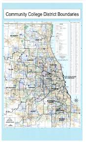 Chicago Suburbs Map Illinois Community Colleges With Congressional District Boundaries