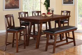 f2273 dining set counter height 6pc in dark walnut by poundex