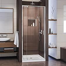 dreamline unidoor 30 in width frameless hinged shower door 3 8