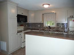 Crown Moulding Kitchen Cabinets Kraftmaid Mushroom Cabinets And Large Crown Molding Laminate