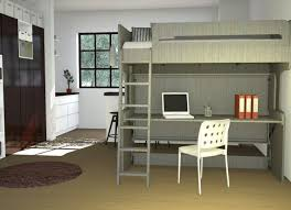double deck bed with study table