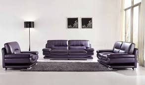 2757 full leather purple sofa by esf w optional loveseat u0026 chair