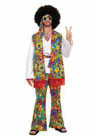 Flower Power Halloween Costume Hippie Man Costume Nostalgia
