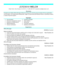 Officer Resume Luxury Design Administrative Manager Resume 6 Administrative