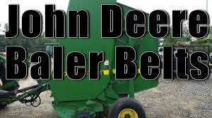 john deere 410 hay baler belts lowest price youtube