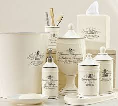 White Bathroom Accessories Set by Bed Bath And Beyond Bathroom Sets Pertaining To Home