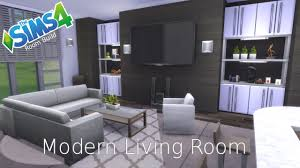 the sims 4 room build modern living room youtube