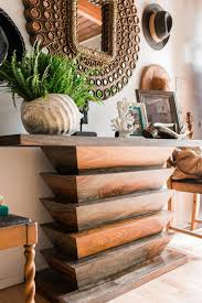 how to clean a wood kitchen table hgtv pictures ideas hgtv custom decor sculpted wood console table