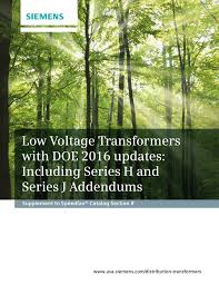 low voltage transformers with doe 2016 updates including series h