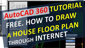 autocad 360 tutorial free how to draw a house floor plan through