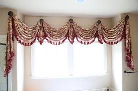 window treatments swag curtains for living room flowery pattern