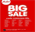 โปรโมชั่นแอร์เอเชีย BIG SALE บิน 0 บาท 2,000,000 ที่นั่ง (เมย.56 ...