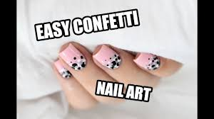 how to easy confetti nail art marine loves polish youtube