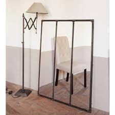 fenetre metal style atelier metalen spiegel met roesteffect h 120 cm metal mirror