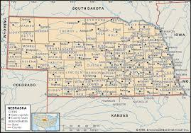 Map Of Virginia Counties And Cities by State And County Maps Of Nebraska