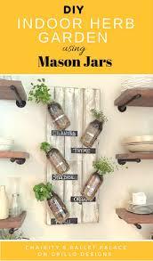 diy indoor herb garden using mason jars u2022 grillo designs