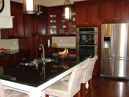 Kitchen Color Ideas With Cherry Cabinets Cherry Cabinets With White Appliances Exitallergy Com
