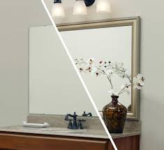 mirror mate bathroom contemporary with custom mirror frame chrome