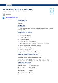Dental Resume Samples Doctor Resume Format Resume Cv Cover Letter