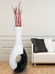 modern black and white large floor vase 43 inch modern large