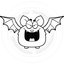 bats images clip art cartoon little bat evil black and white line art by cory thoman