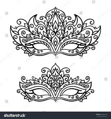 vector illustration contor mask set holiday stock vector 549384133