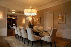 wonderful hanging lamp above nice dining table around tiny white