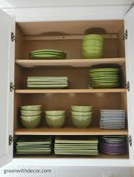 green with decor get extra storage in the kitchen cabinets with