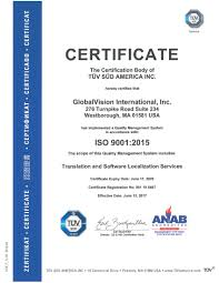 iso certified translation vendor u2013 globalvision